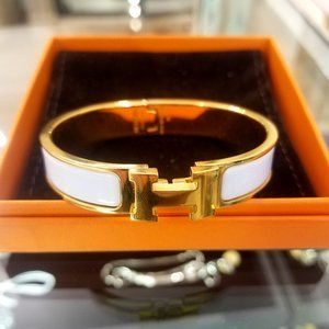 Hermes H Click Clack Bracelet with box and bag